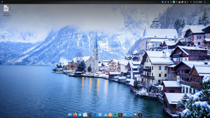 A clean KDE desktop.