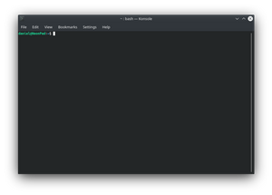 The KDE Konsole command line
