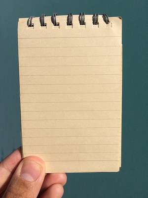 A small notepad.