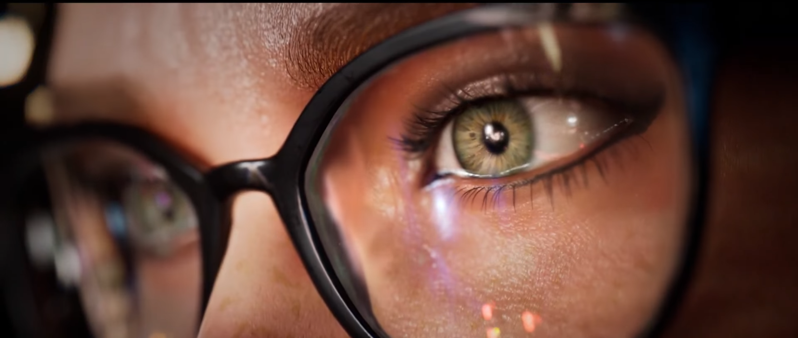 A scene from the Gotham Knights trailer - Barbara Gordon's glasses.
